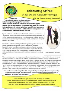 celebrating spirals in Tai Chi and Alexander july 2014