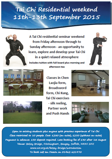 Tai chi residential weekend