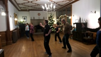 Group Tai chi practice at St Katherines Parmoor