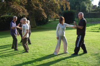 Push hands at Belsey Bridge  Tai Chi workshop