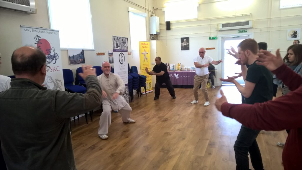 Tai Chi group practice at the Festival