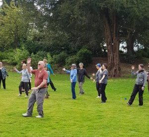 Tai Chi walking at the Swiss Garden