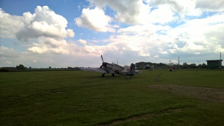 Spitfire at the Swiss Garden Shuttleworth