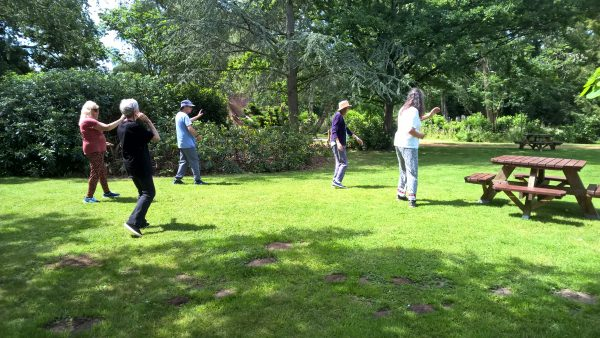 Shefford Tai Chi picnic in the Swiss Garden