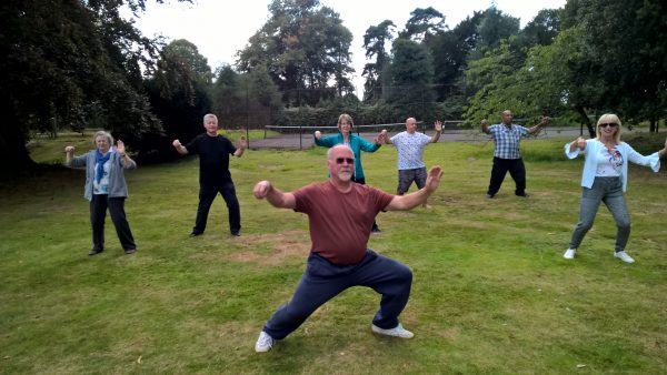 Ian with Shefford Tai Chi group on a workshop