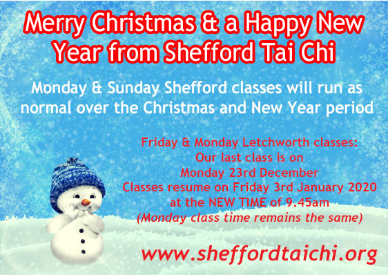 Merry Christmas and a Happy New Year from Shefford Tai Chi